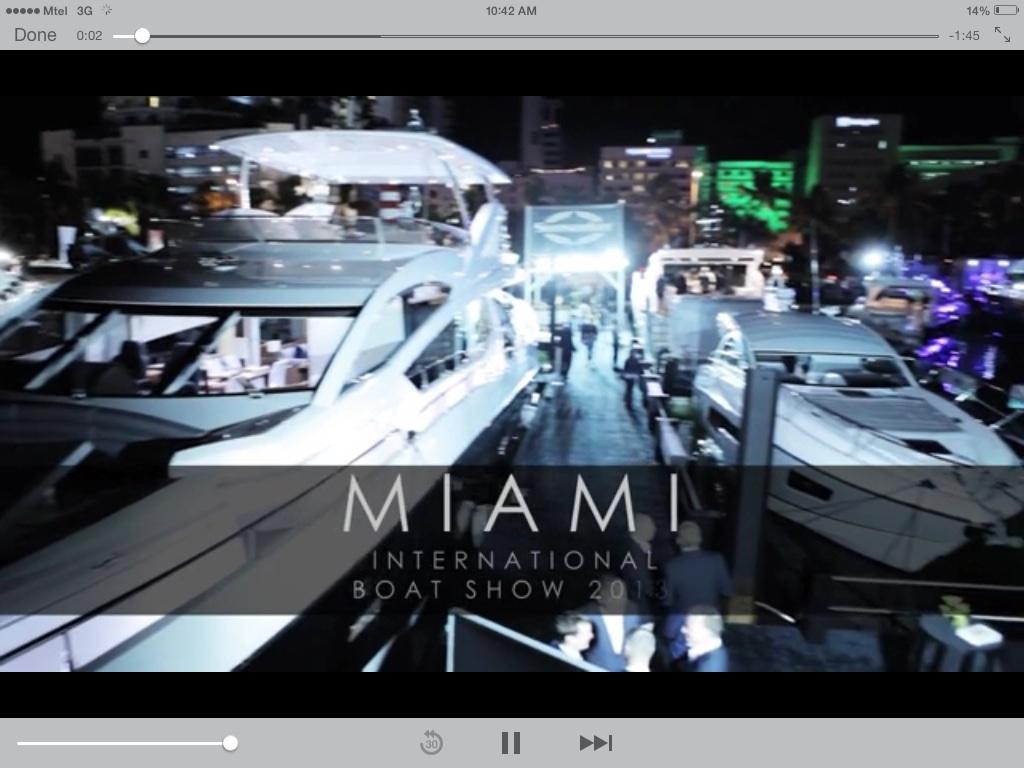 SUNSEEKER Miami International Boat Show 2013